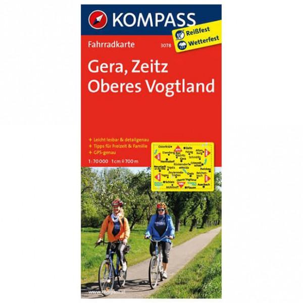 Kompass - Gera - Sykkelkart