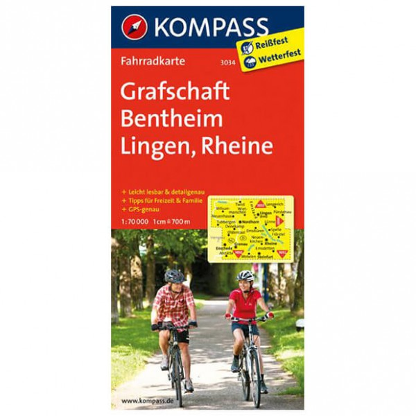 Kompass Grafschaft Bentheim - Cykelkort køb online | Cycle maps