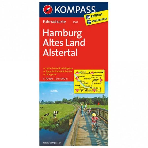 Kompass - Hamburg - Pyöräilykartat