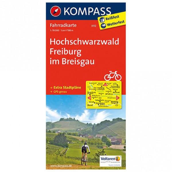 Kompass - Hochschwarzwald - Mapa de rutas en bicicleta
