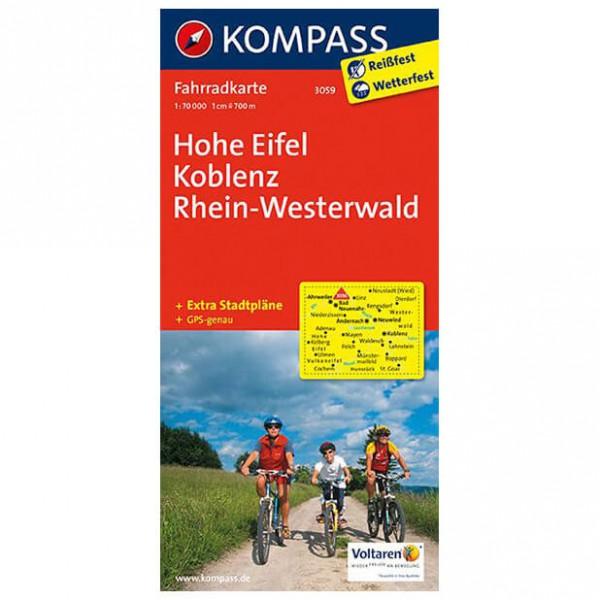 Kompass - Hohe Eifel - Cartes de randonnée à vélo