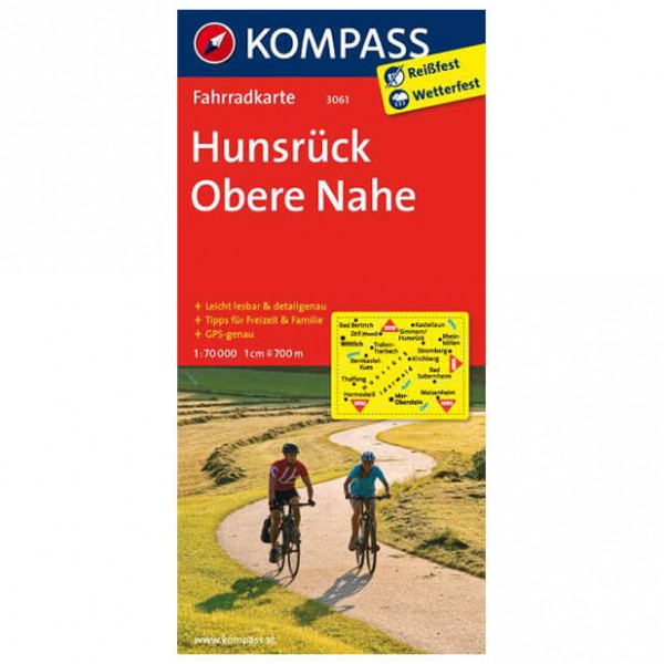 Kompass - Hunsrück - Cartes de randonnée à vélo