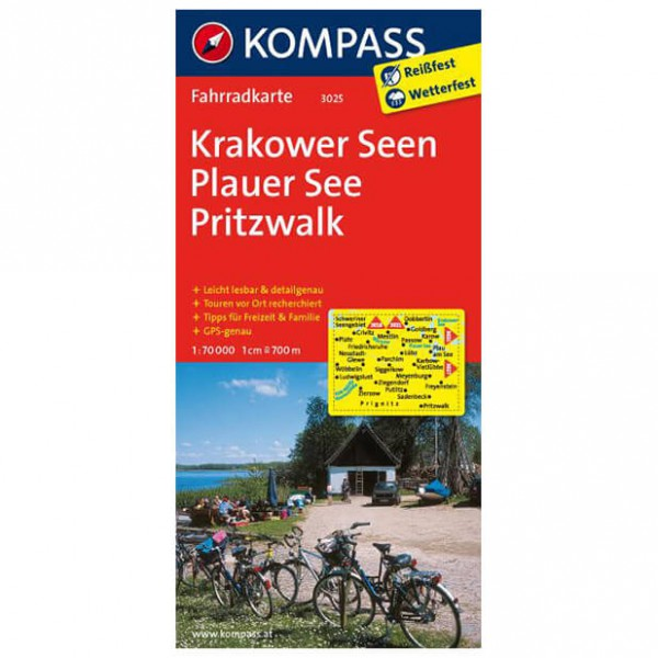 Kompass - Krakower Seen - Carta cicloturistica
