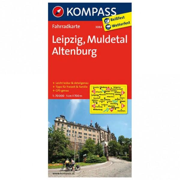Kompass - Leipzig - Muldetal - Altenburg - Cycling map