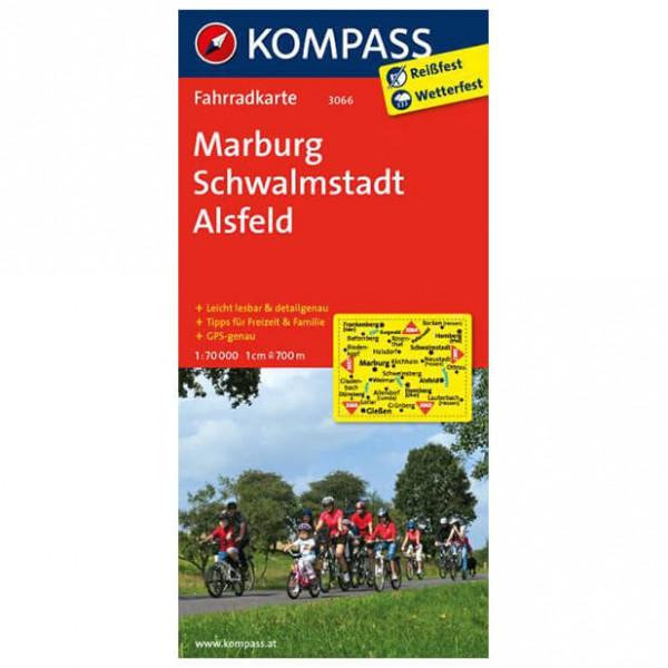 Kompass - Marburg - Sykkelkart