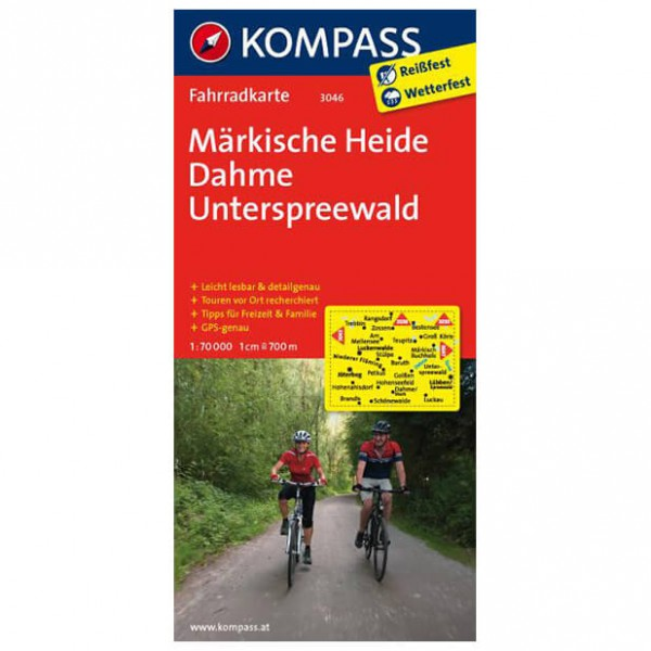 Kompass - Märkische Heide - Cycling maps