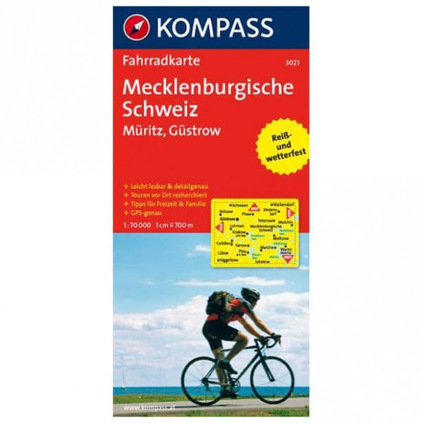 Kompass - Mecklenburgische Schweiz - Müritz - Sykkelkart