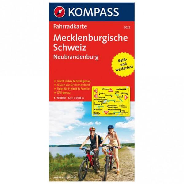 Kompass - Mecklenburgische Schweiz - Sykkelkart