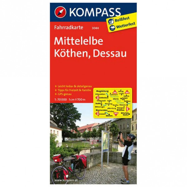Mittelelbe - Cycling map