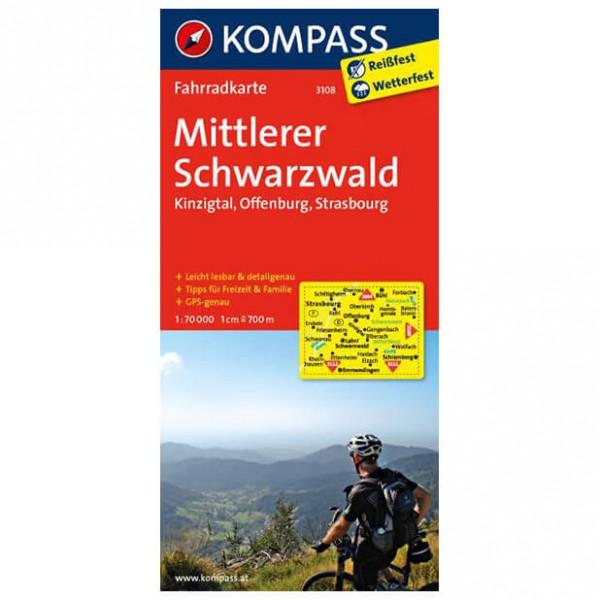 Kompass - Mittlerer Schwarzwald - Mapa de rutas en bicicleta