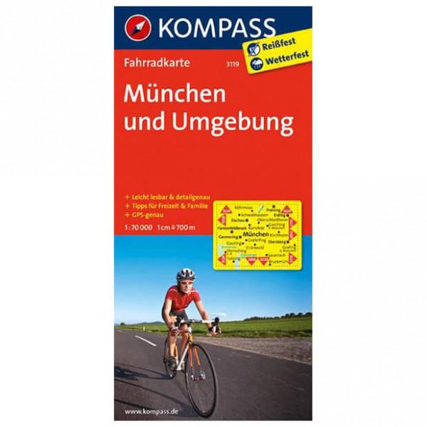 Kompass - München und Umgebung - Mapa de rutas en bicicleta