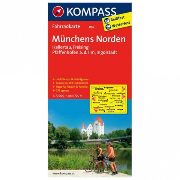 Kompass - Münchens Norden - Pyöräilykartat