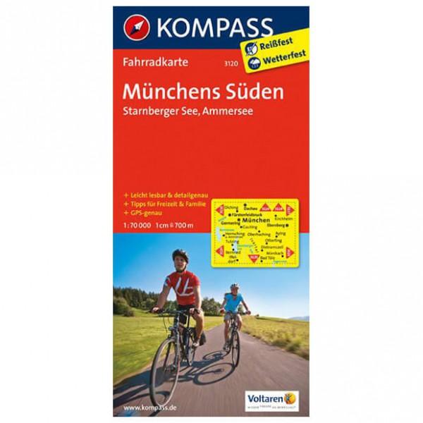 Kompass - Münchens Süden - Cartes de randonnée à vélo