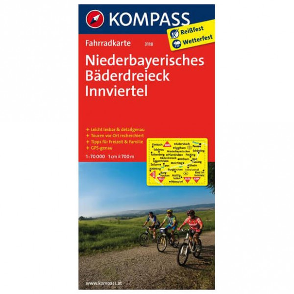 Kompass - Niederbayerisches Bäderdreieck - Cycling map
