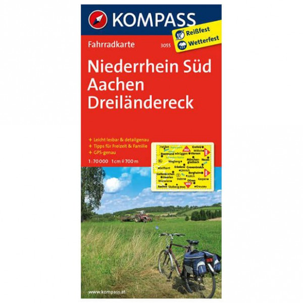 Kompass - Niederrhein Süd - Cycling map
