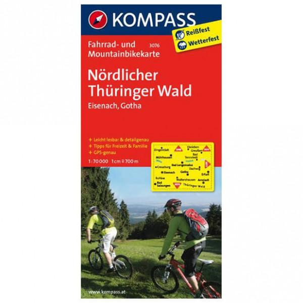N ¶rdlicher Thringer Wald - Cycling map