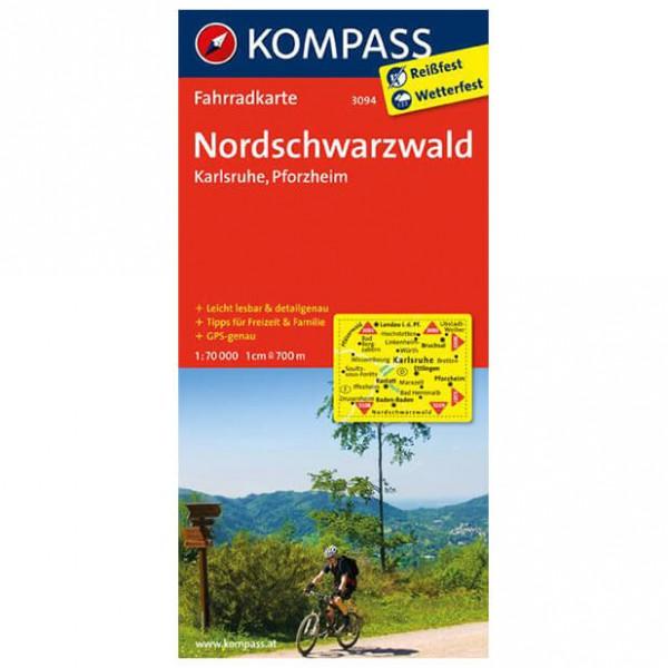 Kompass - Nordschwarzwald - Pyöräilykartat
