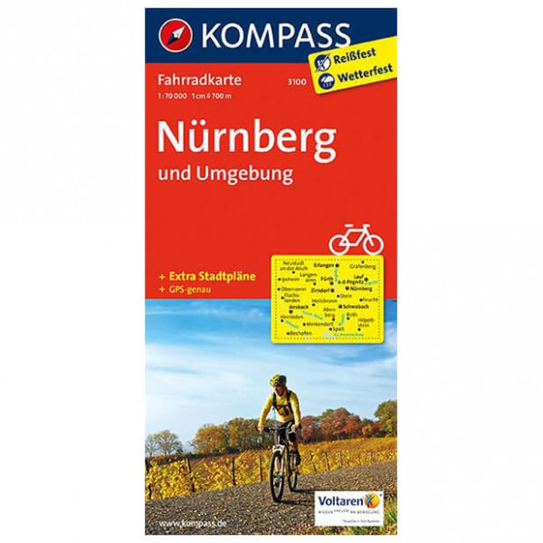 Kompass Nürnberg und Umgebung - Cykelkort køb online | Cycle maps
