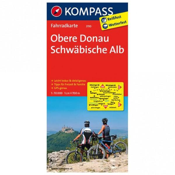 Kompass - Obere Donau - Cykelkort