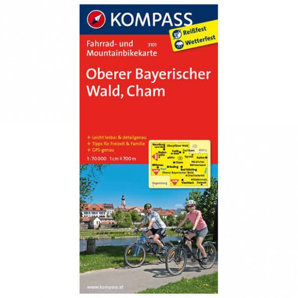 Kompass - Oberer Bayerischer Wald - Pyöräilykartat