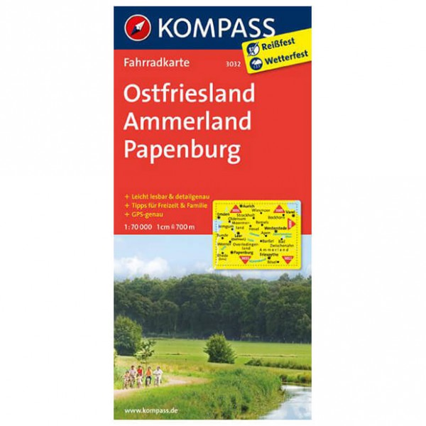 Kompass - Ostfriesland - Cycling maps