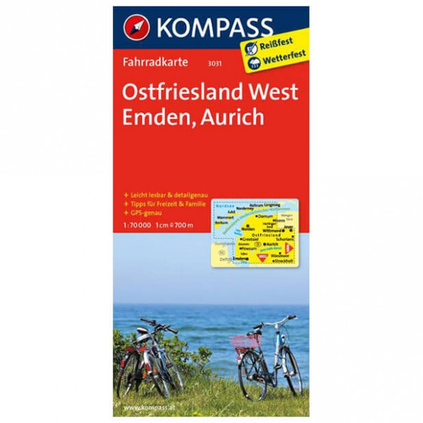 Kompass - Ostfriesland West - Cykelkartor