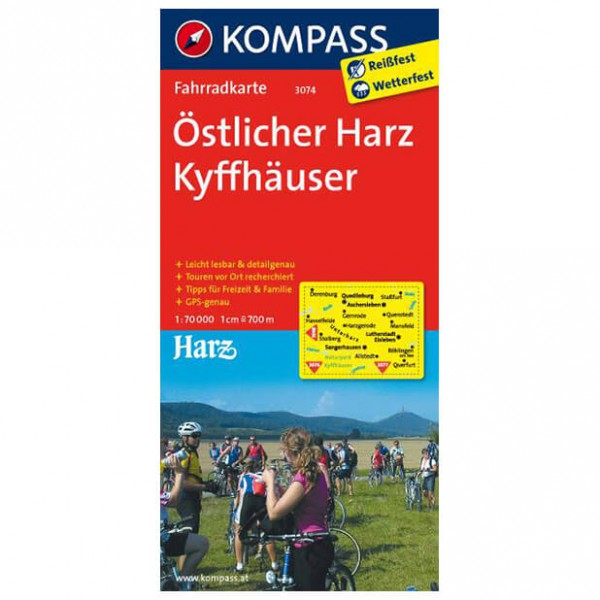 Kompass - Östlicher Harz - Cycling maps