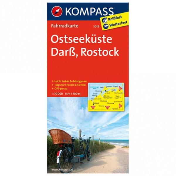 Kompass - Ostseeküste - Darß - Rostock - Cycling map