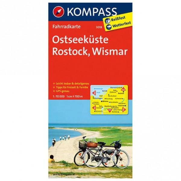 Kompass Ostseeküste - Rostock - Wismar - Cykelkort køb online | Cycle maps