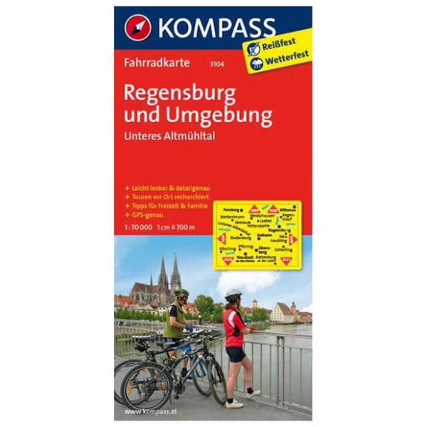 Kompass - Regensburg und Umgebung - Fietskaarten