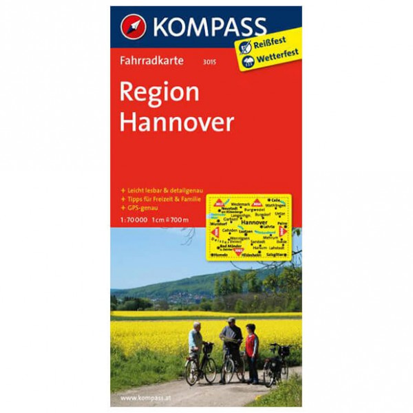 Region Hannover - Cycling map