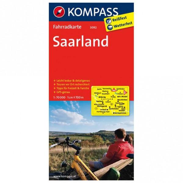 Kompass - Saarland - Cartes de randonnée à vélo