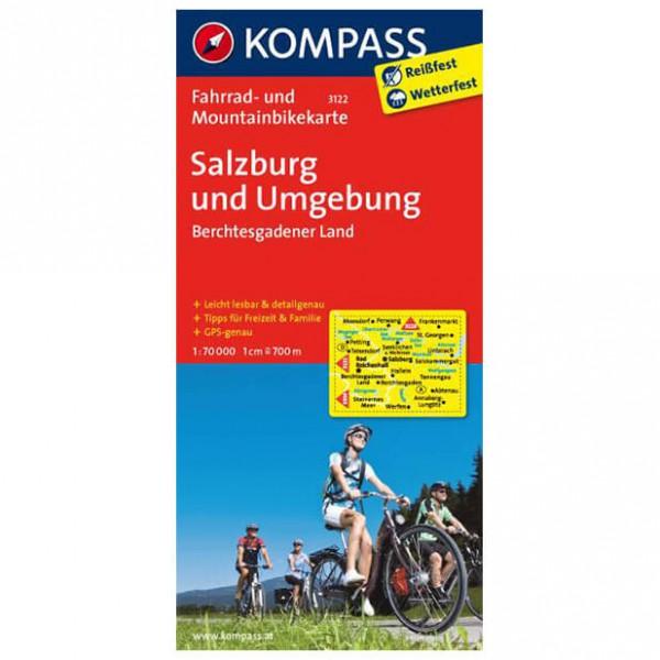 Kompass - Salzburg u. Umgebung - Cykelkartor