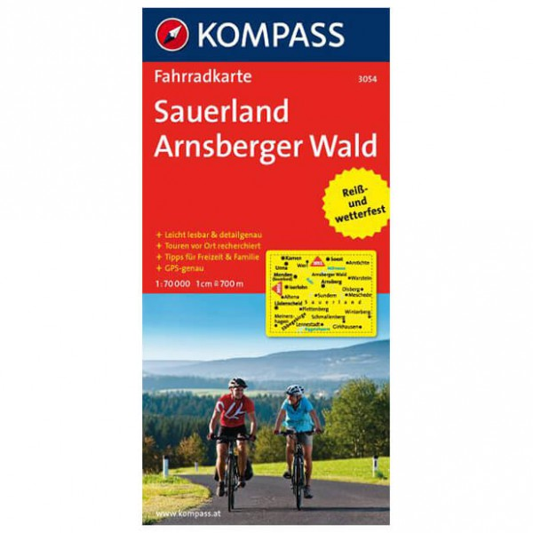 Sauerland - Arnsberger Wald - Cycling map