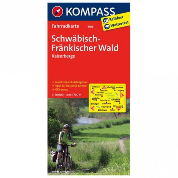 Schw ¤bisch-Fr ¤nkischer Wald - Cycling map