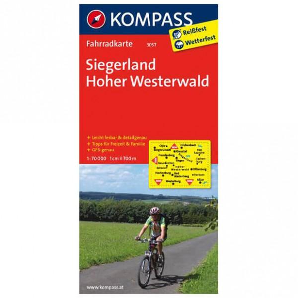 Kompass - Siegerland - Cartes de randonnée à vélo