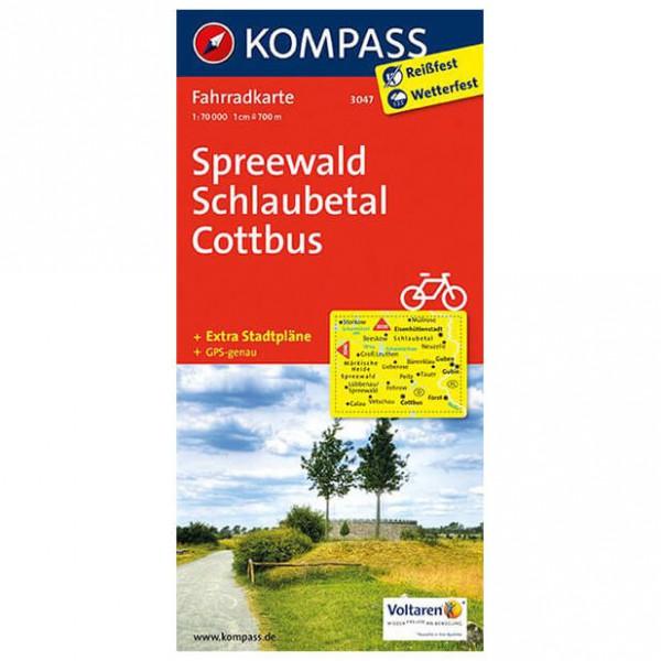 Kompass - Spreewald - Cartes de randonnée à vélo