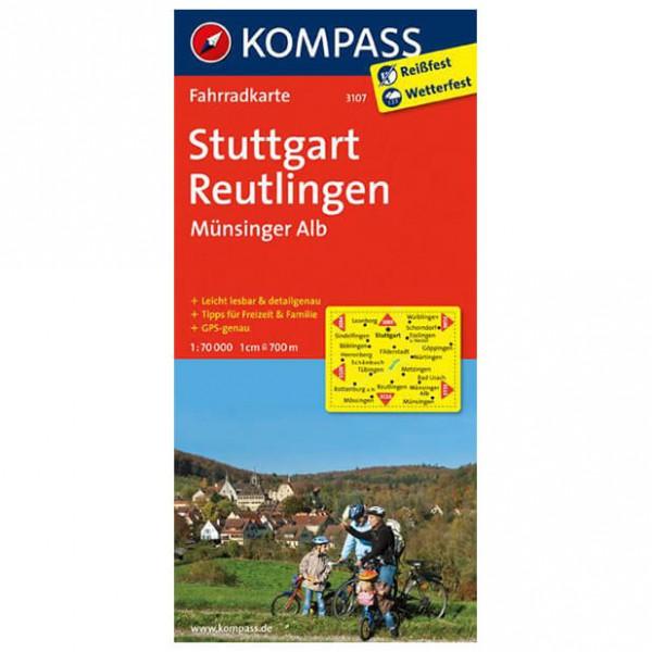 Kompass - Stuttgart - Sykkelkart