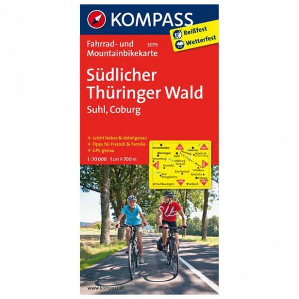 Kompass - Südlicher Thüringer Wald - Cykelkort