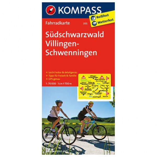 Kompass - Südschwarzwald - Pyöräilykartat