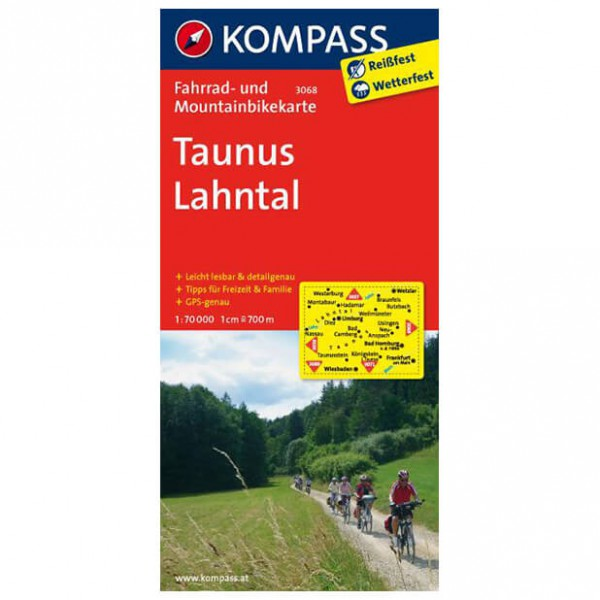 Kompass - Taunus - Cartes de randonnée à vélo