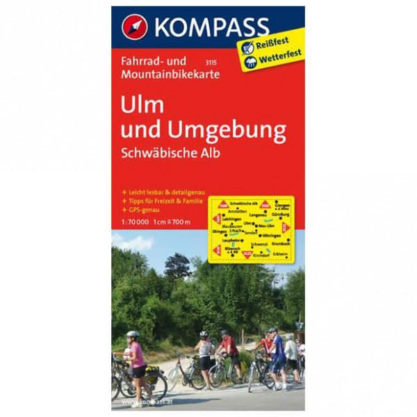 Kompass - Ulm und Umgebung - Sykkelkart