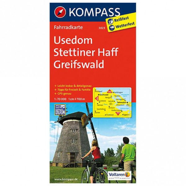Usedom - Cycling map