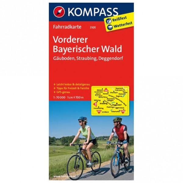 Kompass - Vorderer Bayerischer Wald - Mapa de rutas en bicicleta