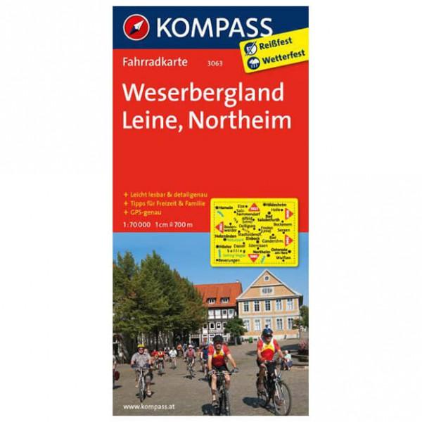 Kompass - Weserbergland - Cartes de randonnée à vélo