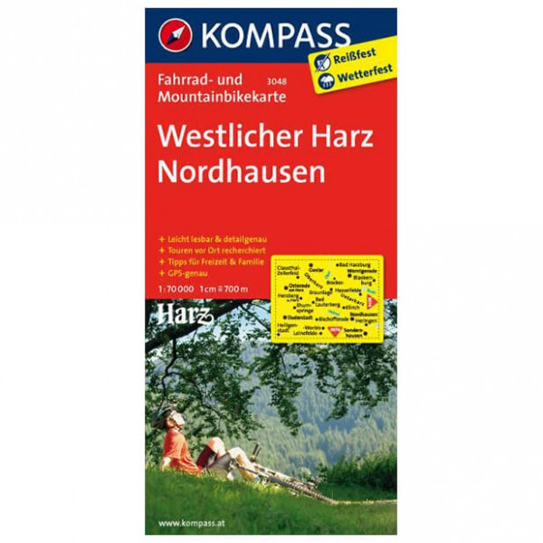 Kompass - Westlicher Harz - Cycling maps