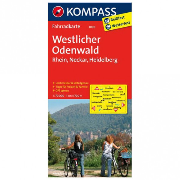 Kompass - Westlicher Odenwald - Carte cyclable