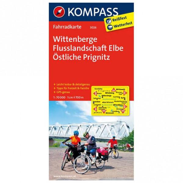 Kompass - Wittenberge - Cykelkort