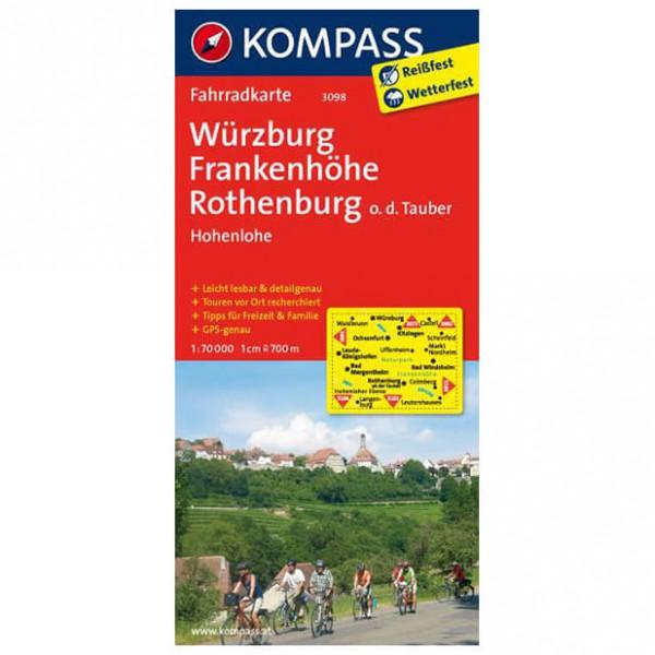 Kompass - Würzburg - Frankenhöhe - Cykelkartor