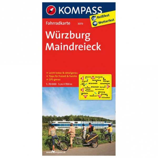 Kompass - Würzburg - Maindreieck - Radkarte